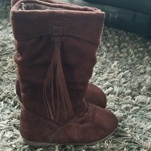 Brown toddler girls fashion boot